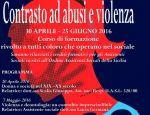"""Aperte le iscrizioni al Corso di formazione """" Contrasto ad abusi e violenza"""""""