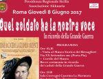 Roma 8 giugno 2017 Quel soldato ha la nostra voce
