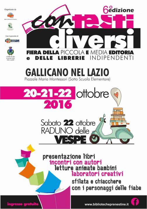 Fiera Contesti Diversi 20-21-22  Ottobre 2016 Gallicano nel Lazio